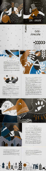 "Иллюстрации и макет книги  Андерсена ""Оле-Лукое"""
