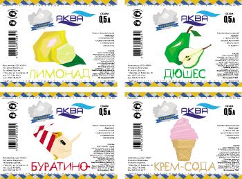 Комплект этикетов для газированных напитков на сахаре