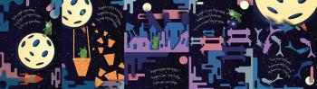 """Иллюстрации книги  О.Мандельштама """"Это всё о луне"""""""