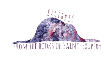 Exlibris from the book of saint- exuery