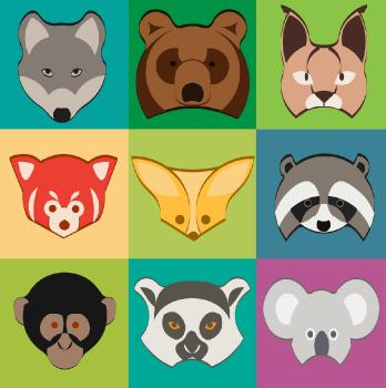 Пиктограммы с животными