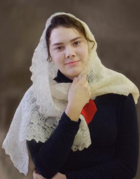 По мотивам произведения П. О. Ренуара Лиза в белой шали