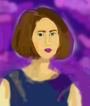 Дама в фиолетовом