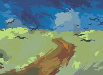 Пшеничное поле Ван Гога
