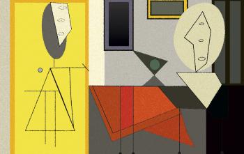 Имитация картины Пикассо The Studio