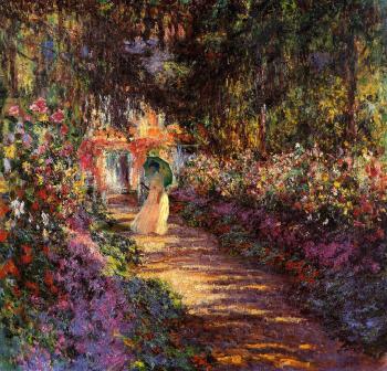 Дама в летнем саду